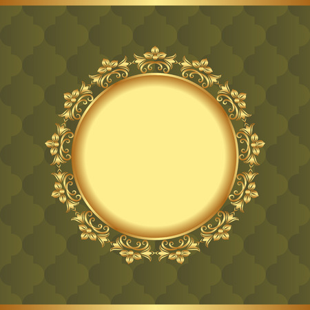 golden frame: vintage background with golden frame Illustration
