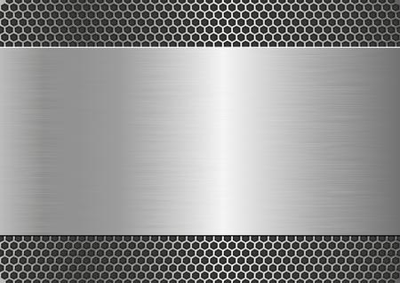 metallic achtergrond met stalen structuur Stock Illustratie