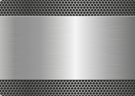 metal grate: metallic background with steel texture