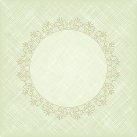 yellowed: vintage background with floral frame