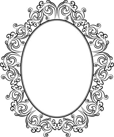ovalo: silueta de marco antiguo