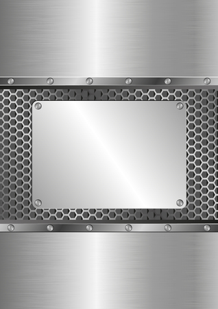 steel plate: metallic background with steel plate