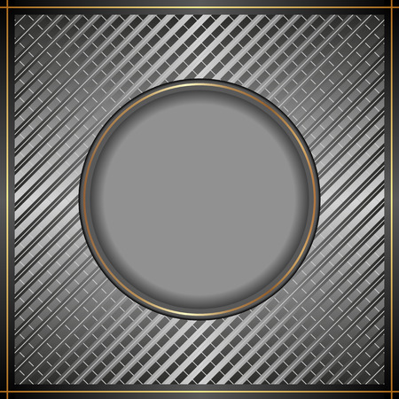 steel grille: metal background with banner Illustration