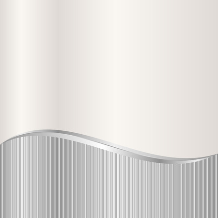 ecru: silver and ecru background divided into two Illustration
