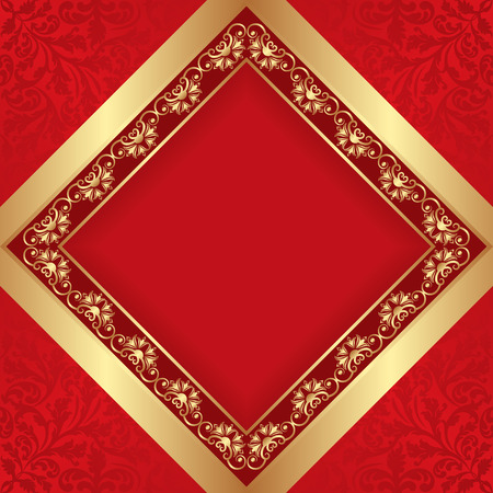golden border: antique background with golden border Illustration