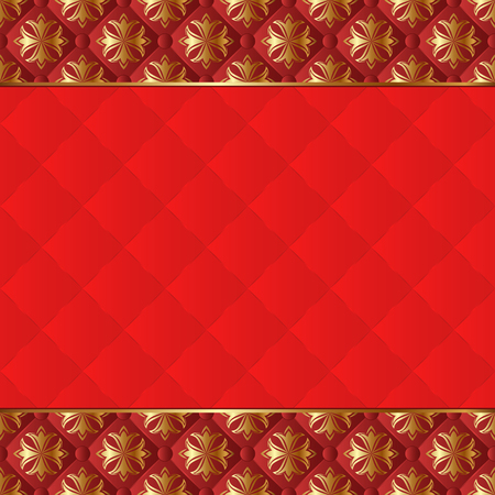 quilted fabric: background with antique pattern Illustration