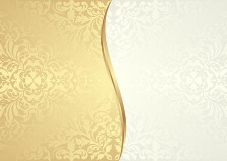 Weinlesehintergrund in zwei geteilt Standard-Bild - 52617082