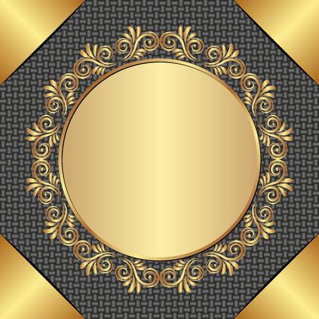 background with golden, antique frame