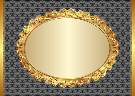 shone: background with golden, antique frame