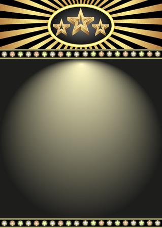 illuminated: illuminated billboard with stars Illustration