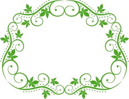 green floral: floral frame Illustration