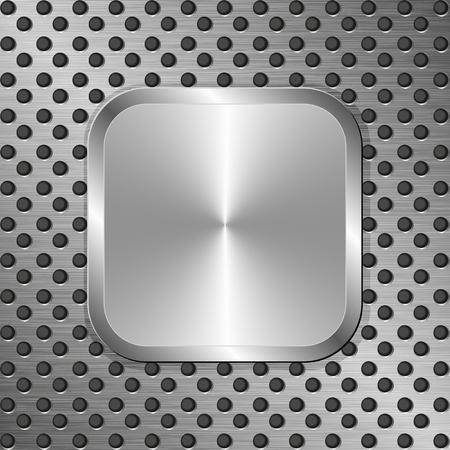 placa bacteriana: fondo de metal con la placa de acero