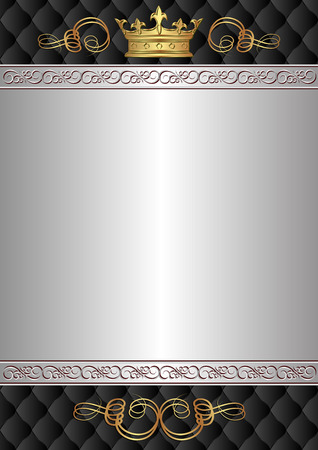 kingly: royal background with ornaments