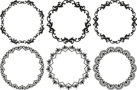 set di cornici decorative decorative