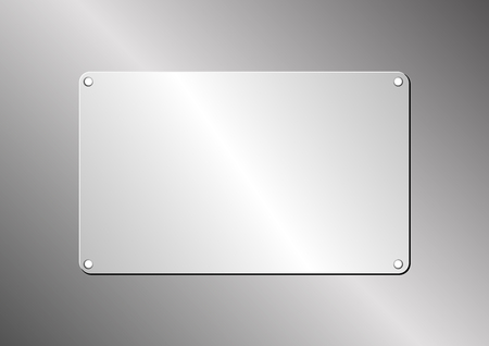 plaque: metallic background with plaque