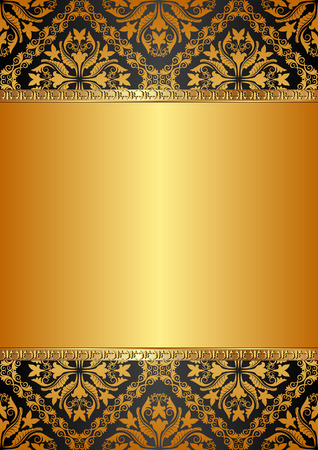 baroque: golden background with baroque ornaments
