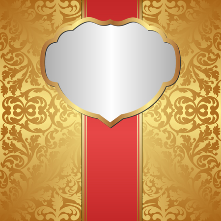 shone: antique background with golden frame