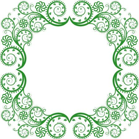 floral frame Illusztráció