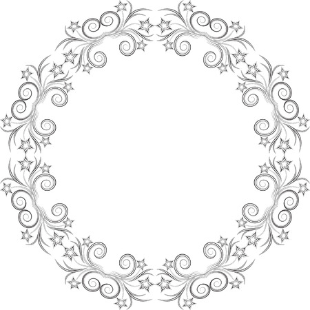 decorative pattern: floral frame Illustration