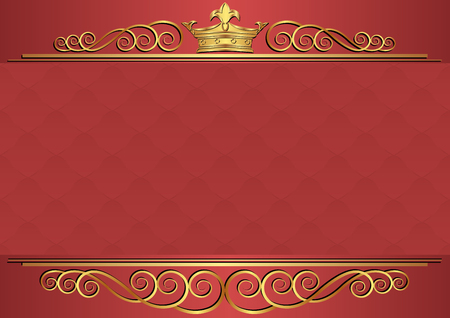kingly: royal background with golden crown and ornament