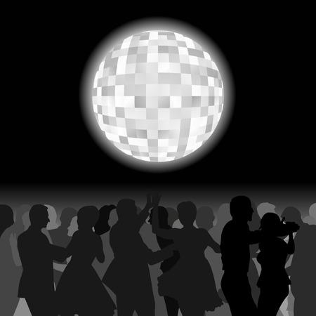evening ball: disco background
