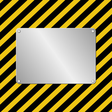 plaque: hazard background with metal plaque Illustration