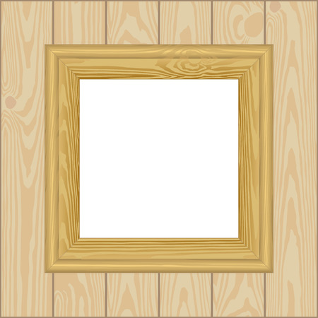 wooden frame: wooden frame with transparent space insert for picture
