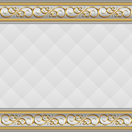shone: vintage background with golden ornament Illustration