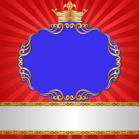 royal background: royal background with antique frame and crown