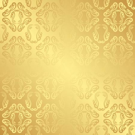 golden: golden background with vintage pattern