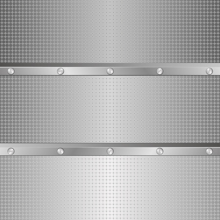 the divided: textured metal background divided into three