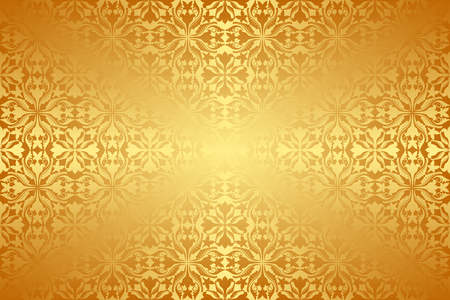 pattern antique: golden background with antique pattern