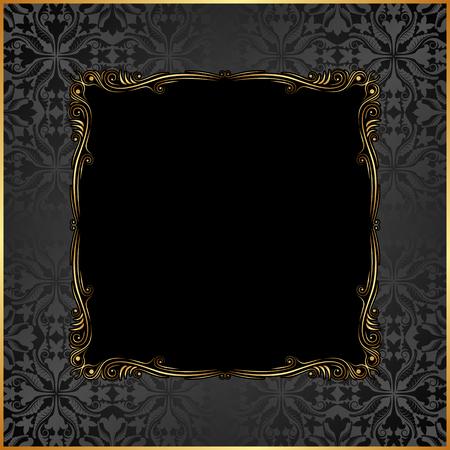 black antique frame Vektorové ilustrace