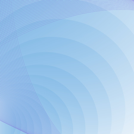 light circular: blue background with circles and curves Illustration
