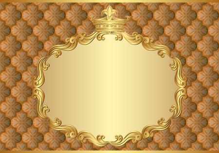 kingly: antique background with royal frame Illustration