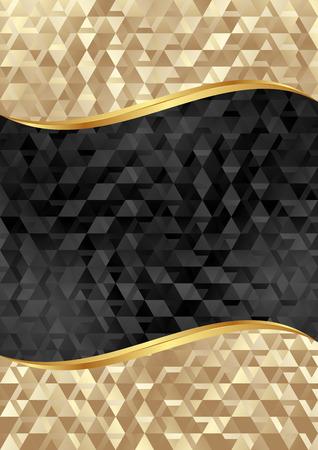 black textured background: golden and black textured background