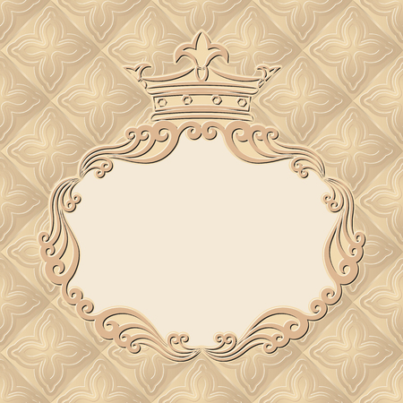 kingly: vintage background with royal frame Illustration