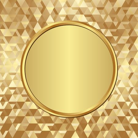 golden banner on textured background