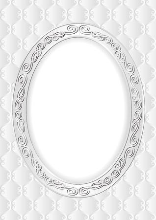 ovalo: fondo decorativo con marco antiguo Vectores