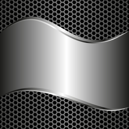grate: metallic background and grate Illustration