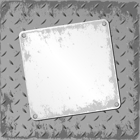 tattered: grunge plaque on textured background