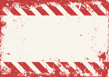 dangerous construction: grunge warning tape red and white