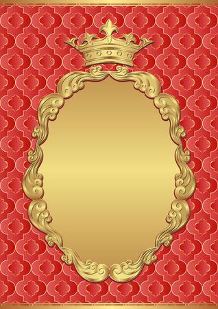 vintage background with royal frame Illustration