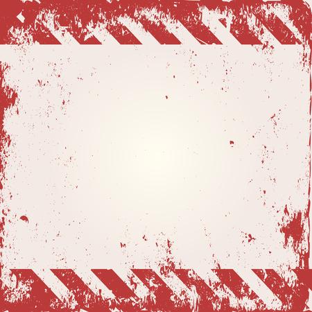 advertencia: Fondo de advertencia con las rayas rojas y blancas
