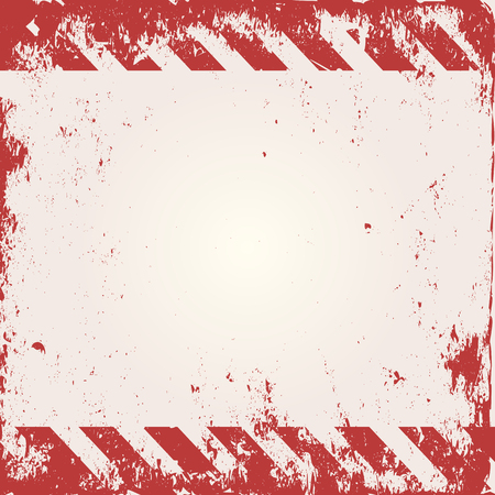 warning: warning background with red and white stripes