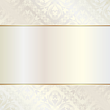 baroque pearl: brilliance background with ornaments