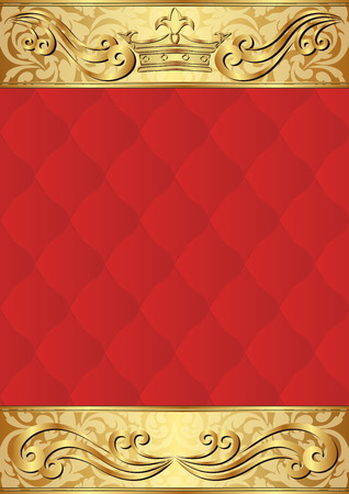 royal background: royal background with golden crown and ornament