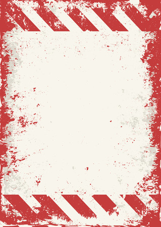 hazard stripes: warning background with red and white stripes
