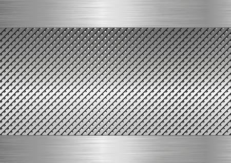 metallic: textured metallic background Illustration