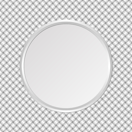 round plate on interlaced background Vector Illustration